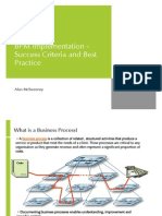 BPM Implementation - Success Criteria and Best Practice