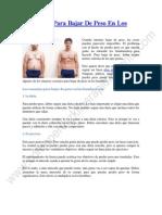 4 Consejos Para Bajar de Peso en Los Hombres