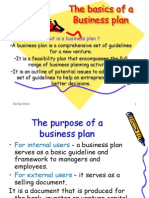 Basics of a Business Plan