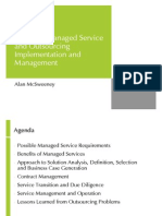Notes on Managed Service and Outsourcing Implementation and Management