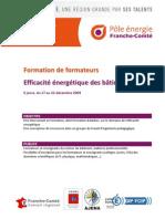 Formation Formateur Efficacite Energetique Decembre 2009