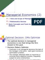 Managerial Economics- Optimization Techniques