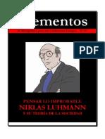 Elementos Nº 72. Luhmann