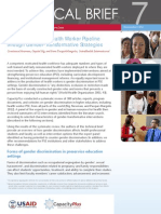 Strengthening the Health Worker Pipeline through Gender-Transformative Strategies