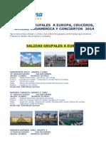 2014-Ofertas-salidas Grupales Europa - Destinos Exoticos - Cruceros y Conciertos