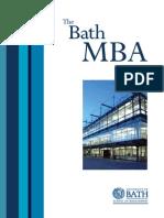 MBA Brochure from Bath Uni 2007