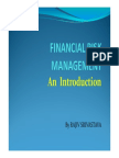 Introduction to Derivatives Management