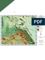 Morphology map of the Sierra Madre Oriental near Monterrey, Nuevo Leon, Mexico