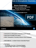 NASA's Role in Atmospheric Chemistry -SARP 2014