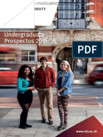 City University London Undergraduate Prospectus 2015