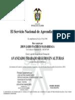 Certificado de Alturas Jhon Pacheco - San Felipe