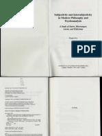 Frie intersubjectivity and subjectivity in phenomenology and psychoanalysis