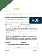 Semen Specimen Patient Instructions and Appointment Form