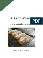 Plan de Negocio de Panderia