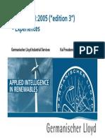 IEC61400 1 2005 GL Experience