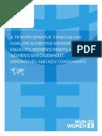 UN Women - 2013 - Post 2015 Standalone Goal