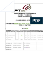 Pr-op-000 Prueba Hidroestatica en Valvulas Dorot y Manometros