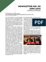 Newsletter No 50