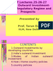 Outward Investment Policy of India by Tarun Das