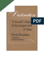 Distinction, P. Bourdieu