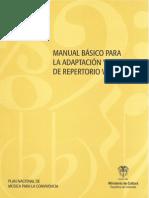 Manual Básico Para La Adaptación y Arreglo de Repertorio Vocal