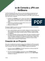 Programas de Consola y JPA Con NetBeans