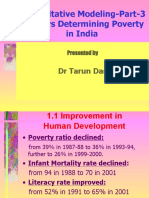 Factors determining poverty and inequality in India by Tarun Das