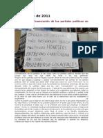 Control de La Financiación de Los Partidos Políticos en España Ya 26 de Mayo de 2011