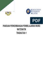 Pppm Matematik Tingkatan 1