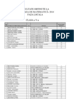 REZULTATE O. M. 2014-Faza Locala - Gimnaziu