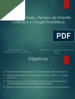 Enema Baritado, Tiempo tránsito colónico y Cirugía bariátrica