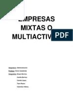 Empresas Mixtas o Multiactivas
