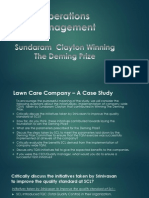 SCL - Winning the Deming Prize