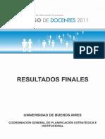 Censo de Docentes 2011 - Informe Final