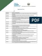 Agenda FORO 2012 de Desarrollo y Cultura