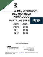 Manual de Martillo Hidraulico Excavator