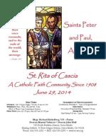 St. Rita Parish Bulletin 6/29/2014