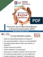 Planeación Para El Aprendizaje Basado en Proyectos Sustentables. Georgina Puebla