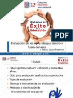 La Evaluación de Los Aprendizajes Dentro y Fuera Del Aula. Laura Fuentes