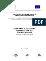 Observatorio de Políticas Públicas-guía Para El Taller de Formulación Del Plan de Acción-(19 Pág - 214 Kb)