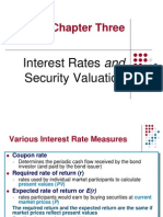 Chapter 3 - Interest Rates and Security Valuation