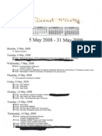 Appointments for Department Secretary General Dermot McCarthy from May 5, 2008 to May 31, 2009