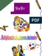 Multiplicacion de Decimales