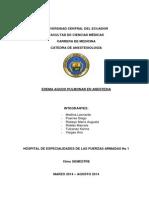 """Edema Agudo de Pulmã""""n en Anestesia Borrador"""
