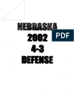 2002 Nebraska Corn Huskers 43 Defense 168 Pages