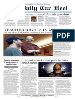 The Daily Tar Heel for June 26, 2014