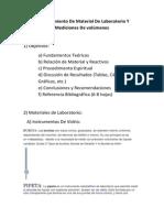 Reconocimiento de Material de Laboratorio Y Mediciones de Volúmenes