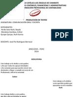 Diapositivas de Comunicación Oral y Escrita