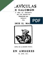 Clavicula de Salomon 111 Pag