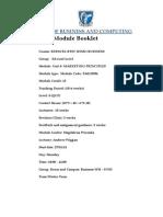 MARKETING Principles - Module Booklet Jan - May 2014 EVE3